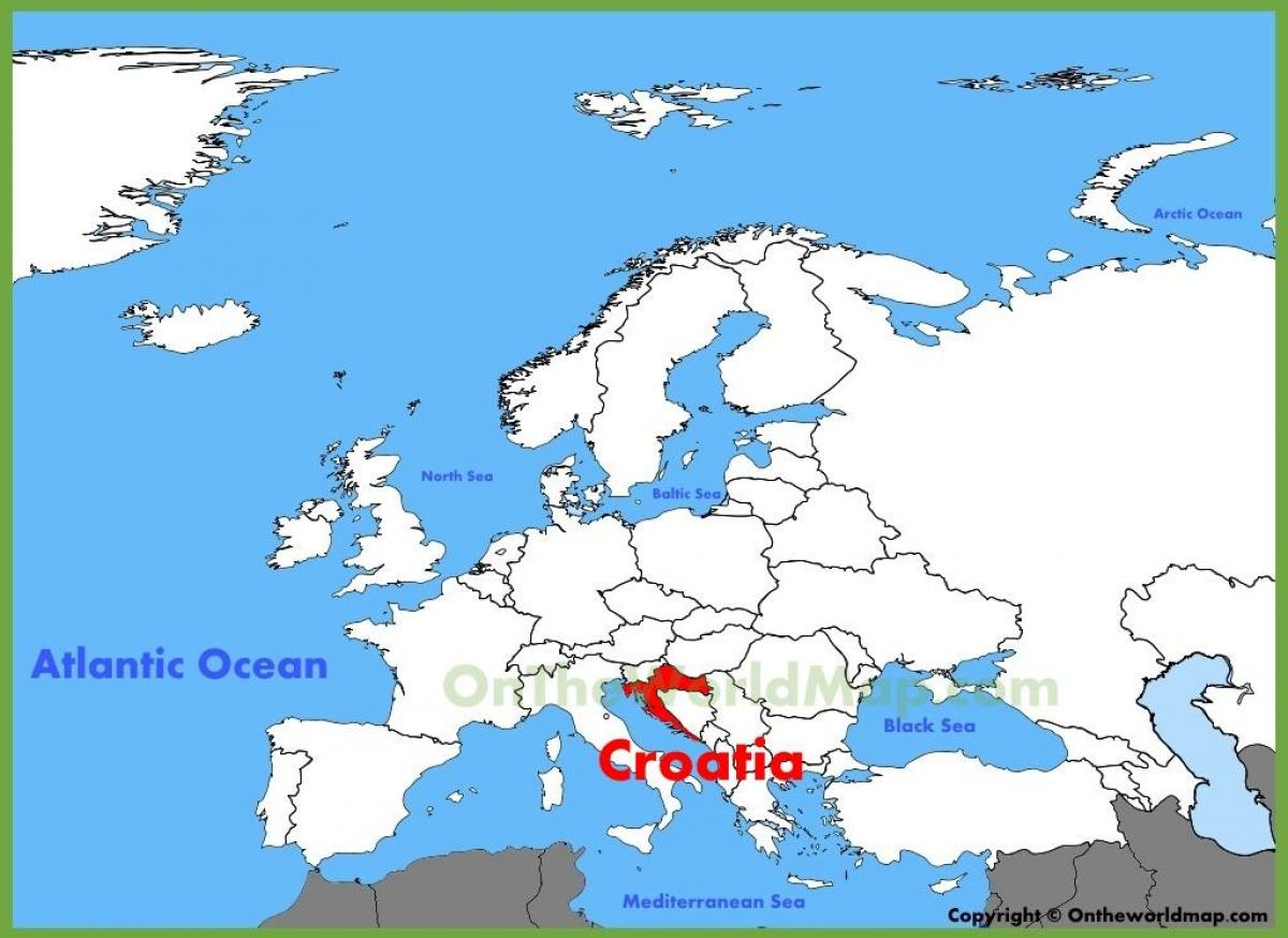 Croatia on world map - Croatia location on world map (Southern ...