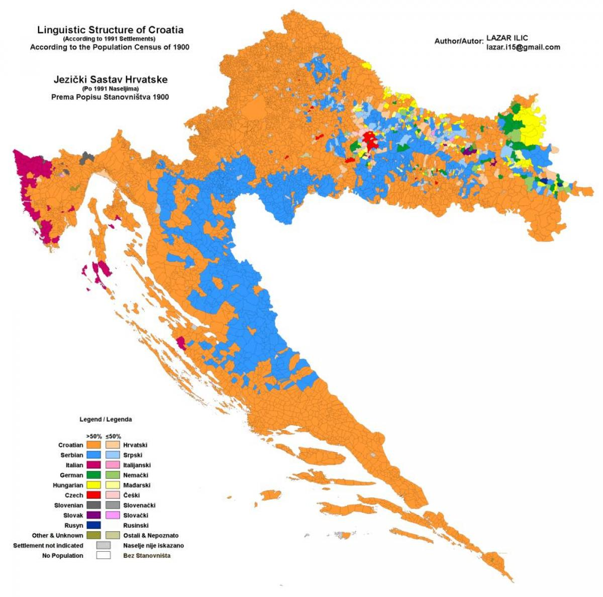 Ethnic Map Of Croatia Map Of Ethnic Map Of Croatia Southern