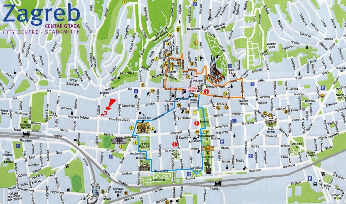map of zagreb croatia