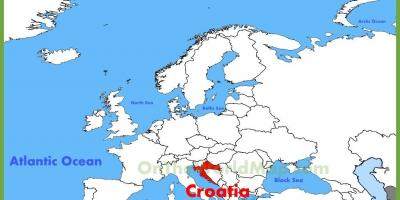 Croatia location on world map