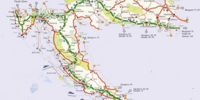 Detailed road map of croatia