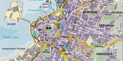 Tourist map of pula croatia